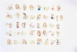 [Instock] Stickers Scrapebook/ Planner Stickers #50 (Girl)