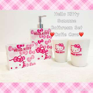*NEW IN IN SG* Hello Kitty Suzanne Bathroom Set