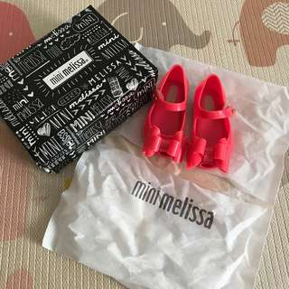 BN Mini Melissa Shoes Uktragirl Triple Bow Pink Neon