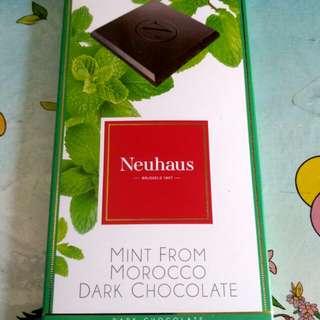 全新Neuhaus 比利時皇家御用頂級薄荷摩洛哥巧克力-Top Grade Royal Neuhaus Mint from Morocco Dark Chocolate