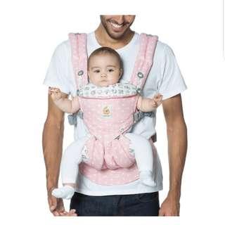 BNIB ergo 360 omni baby carrier, pink