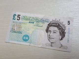 Old England 5 Pound Banknote