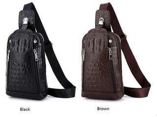 Crocodile Chest Shoulder Waist Bag