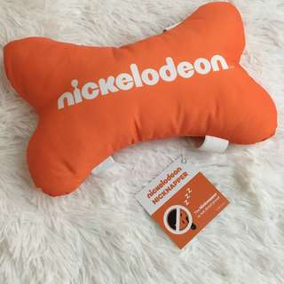 [BN] Nickelodeon Nicknapper Orange bone shape Cushion Pillow