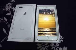 Iphone 8+ silver 64gb