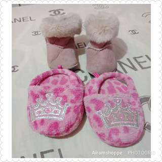 H&M Boots (12-18months)and Place Princess Slipers (6-7T)