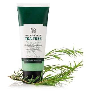Body shop tea tree squeaky clean scrub 100ml