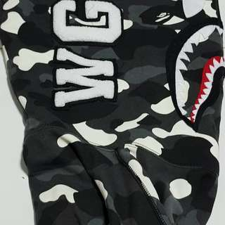 "Bape shark camo  hoodie WGM ""Grow in the dark"""