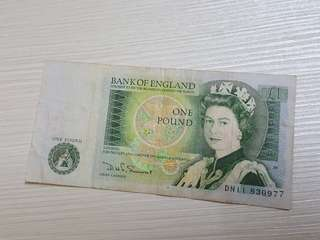 Old England 1 pound Banknote