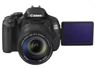 Canon EOD 600D with kit lens and accessories
