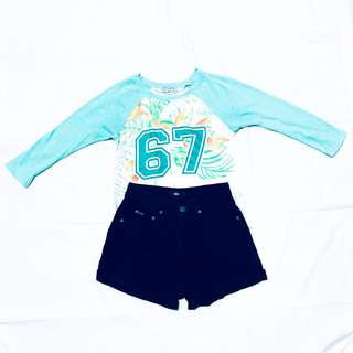 Navy blue highwaist shorts