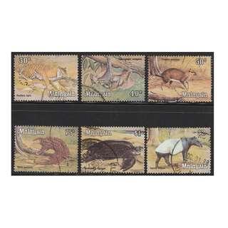 MALAYSIA 1979 National Animal Series 30c-$2 used SG #189-194  (0092)
