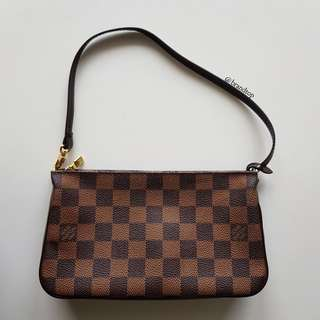 Authentic Louis Vuitton Damier Ebene Pochette Accessories LV