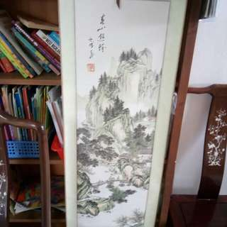 Special Price Vintage Chinese Painting size 135 x 38 cm qwerty