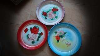 Nos vintage enamel trays $25ea