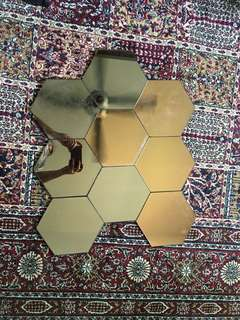 Hexagonal Mirror Tiles (set of 9)