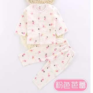 Baby Girl Pink Ballet Cotton Long-Sleeve Baby Sleeping Clothing Set
