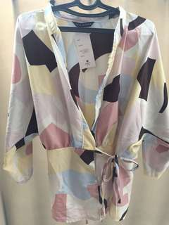 Kimono bahan satin.Warna-warni pastel