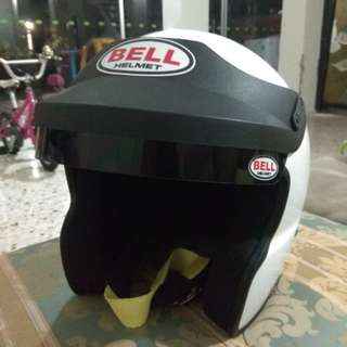 Bell open face helmet