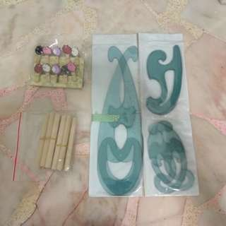 MOVING OUT SALE [Curve Ruler, Cat Clips, Wooden Sticks]
