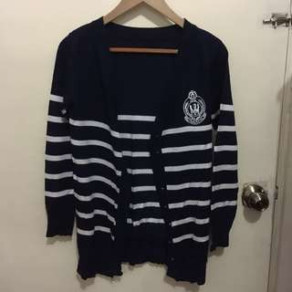 Striped Preppy Ivy League Cardigan from HK