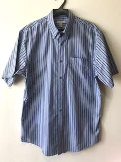 Men's Van Heusen blue striped polo