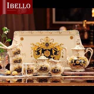 Teacup set teapot