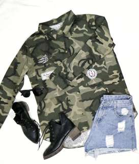 *BRANDNEW* Military/Army/Camouflage Polo/Jacket