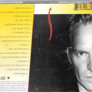 MY PRELOVED NEAR MINT CD - STING - FIELD OF GOLD / FREE DELIVERY (F9C)