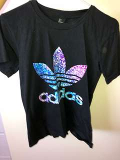 Adidas colourful tee