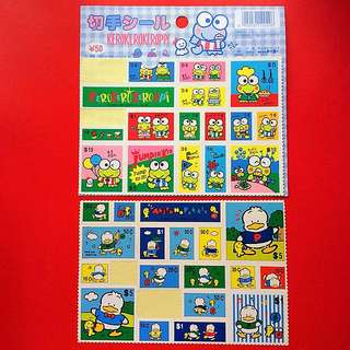 Sanrio 貼紙 兩張 (有缺)