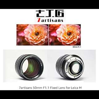7Artisans 50mm F1.1 for LEICA-M mount