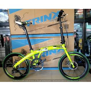 "Trinx Dolphin 2.0 Folding Bike Bicycle 20"" Alloy Mechanical *Buy SURE Confidence with Authorized Trinx Dealers"""