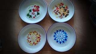 Nos vintage enamel plates $15ea