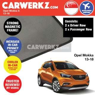 *QUALITY* Opel Mokka X 2013-2018 Customised Car Window Magnetic Sunshades 4 Pieces