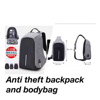 Anti Theft Backpack and Bodybag