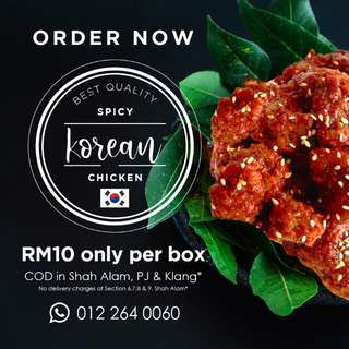 Halal Spicy Korean Chicken