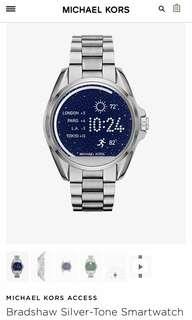 Michael Kors Bradshaw Silver-Tone Smartwatch