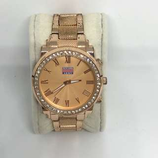 New York Army Rose Gold Watch