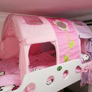 *In Stock* BN Princess Sleeping Tent for Single Top/Bottom Bunk Bed (Pink & Purple)