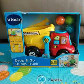 Mint Condition Vtech Drop & Go Dump Truck Toy 6-36 months