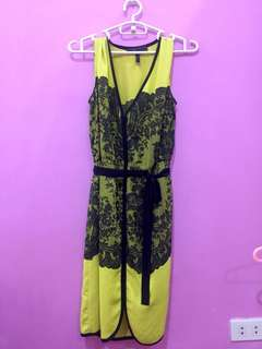 BCBG Max Azria Dress in Yellow Green