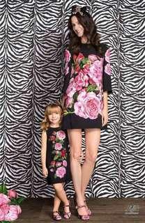 DG inspired floral mother & daughter set