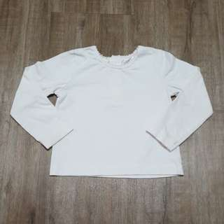 White Long Sleeve Top (4 tahun)