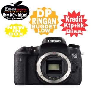 Kredit Low Dp Canon EOS 760D Body Resmi ditoko Promo ktp+kk bisa wa;081905288895