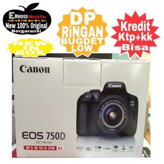 Kredit Low Dp Canon EOS 750D Kit EF-S 18-55mm Resmi ditoko ktp+kk wa;081905288895