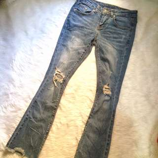 Justicavalli Ripped Denim Pants