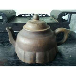 二手有嗑傷大舅公家的壺蓋桂珍落款紫砂壺泡茶茶壺出水孔232有歷史使用痕跡