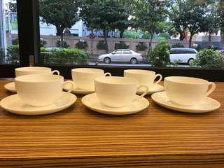 🚚 骨瓷咖啡杯x6
