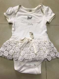 GUESS baby white lace dress romper